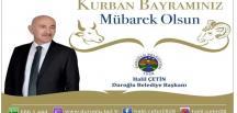 Duroğlu Belediye Başkanı Halil Çetin'den Kurban Bayramı Mesajı